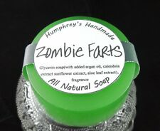 ZOMBIE FARTS Warm Vanilla Sugar Soap, Round Glycerin Bar Puck All Natural In One