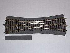 Roco Line HO mit Bettung Gleise Einfachkreuzungsweiche  EKW 15  42546