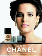 PUBLICITE ADVERTISING  046  1985   Chanel  maquillage  le teint