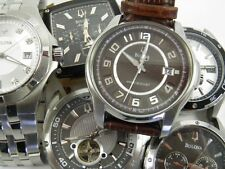 Dealers lot of 6 Mens Bulova stainless steel wrist watches spares & repairs
