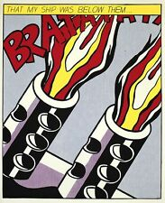 Roy Lichtenstein As I opened Fire III 1964 Lithographie Bild Grafik