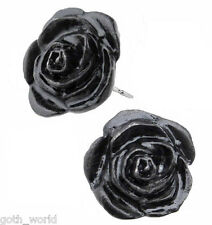 Alchemy gothic pendientes Original-Black Rose Espárragos | Ladies Fashion Jewellery