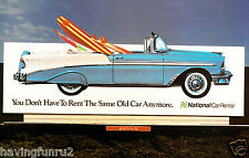 1956 Billboard Chevrolet Belair Convertible with Surfboards 11 x 17 Photograph