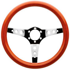 OMP Mugello 350mm 3 Spoke Polished Wooden Vintage Wood Steering Wheel