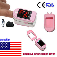 Pink Pulse Oximeter Finger Blood Oxygen SpO2 PR Heart Rate Monitor,Bag.US Seller