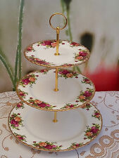 "Royal Albert ""Old Country Roses"" Ex. Large 3-tier Cakestand**REDUCED TO CLEAR**"