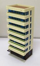 Outland Models Railway Colored Modern City Building Tall Apartment N Scale