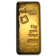 Kilo gram Gold Bar - Valcambi (Cast w/Assay) - SKU #83926