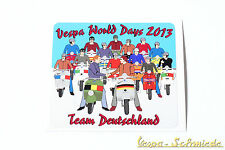 "Dekor Aufkleber ""Vespa World Days 2013"" - Team Deutschland Germany VCD Belgien"
