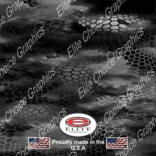 "Chameleon Hex Night Black Wrap Vinyl Truck Camo Car SUV Real Camouflage 52""x6ft"