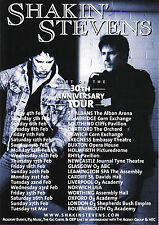 Shakin' Stevens '30TH ANNIVERSARY (UK) TOUR' A5 Flyer New
