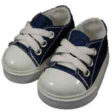 "6 PAIR OF COLLECTABLE DOLL SHOES FOR 18"" dolls -Blue Denim Sneaker WHOLESALE LOT"