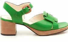 BNIB CLARKS ORLA KIELY MATILDA GREEN LEATHER SANDAL SHOE UK 3, US 5.5, EU 35.5