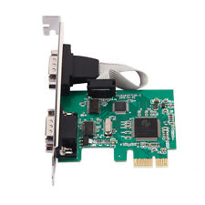 2 Port RS-232 Serial Port COM para PCI Express Card Adapter Converter New