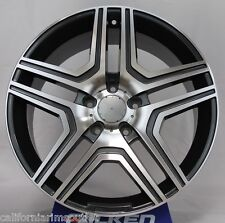 "22"" WHEELS RIMS FOR MERCEDES BENZ GL450 GL550 ML350 ML550 ML63 22X10 GUNMETAL"