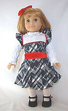 """Doll Clothes AG 18"""" Nellie's Christmas Dress Made To Fit American Girl Dolls"""