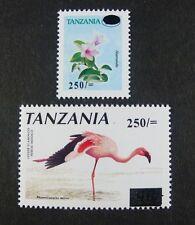 TANZANIA TANSANIA 2001 Pflanze Flamingo Plant Bird Freimarken 4014-15 ** MNH