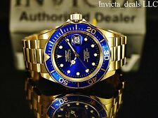 Invicta Men's 37.5mm Pro Diver Swiss Movement Admiral Blue Dial 18K GP SS Watch