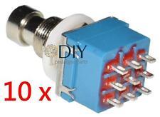 10 x 3PDT footswitch interruttore a pressione true bypass pedal clone DIY