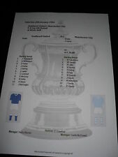 1955-56 FA Cup 4th Round Southend United v Manchester City matchsheet