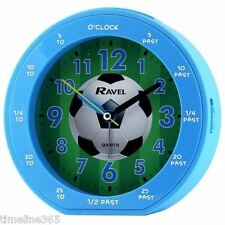 Ravel Boys Time-Teacher Football Blue Quite Sweep Alarm Clock & Snooze RC007.6C