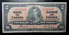 1937 Bank of Canada $2 Banknote - Coyne/Towers - Prefix K/R - Nice Grade