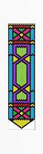 Geometric Stained Glass~Beaded Banner Pattern