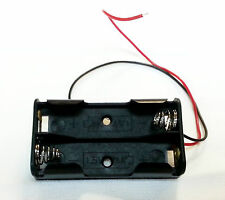 "2Pcs New 2 AA 2A Battery 3V Clip Holder Box Case with 6"" Leads + US Free Ship"