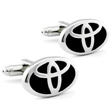 TOYOTA CUFFLINKS Car Emblem Logo NEW w GIFT BAG Pair Wedding Groom Men Accessory