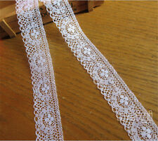 10M Vintage White Floral Net Embroidered Lace Edge Trim Ribbon Sewing Craft DIY