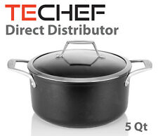 TECHEF - Onyx Collection, 5-quart Soup Pot with Glass Lid - Teflon Platinum