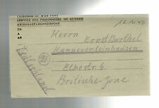 1947 Egypt Camp 2773 censored POW Prisoner of War Letter Cover to West Germany