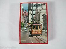 Vintage San Francisco Cable Car Nob Hill California Street Playing Cards 1960s