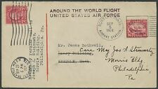 #C6 ON AROUND THE WORLD FLIGHT US AIR FORCE COVER SEPT 5,1924 RARE HV9049