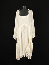 BOHEME DANISH DESIGN LAGENLOOK WHITE DRESS KLEID