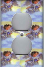 ANGEL IN BLUE - ANGELS HOME WALL DECOR OUTLET PLATE COVER