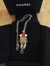 Chanel Metiers d'Art Paris-Salzburg 2015 Cuckoo Clock Necklace Collana new
