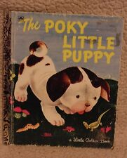 THE POKY LITTLE PUPPY Vintage Little Golden Book Gustaf Tenggren Children's HB