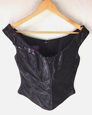 Talbot Runhof All About Eve Couture Black Lacquer Corset Ruched Top 10/6 Germany