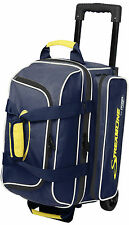 Storm Streamline 2 Ball Double Roller Bowling Bag Navy Grey Yellow