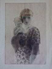 Edouard Chimot: Eau-Forte originale/Jeune Mère