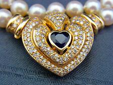 schöne Perlenkette mit Brillantschloß 585/- Gold Herz
