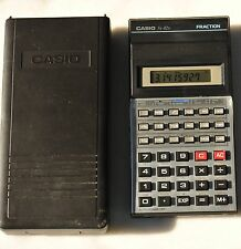 Casio FX-82D Vintage Scientific Calculator with hardshell case