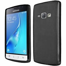 For Samsung Galaxy J1 2016 AMP 2 Frosted TPU Rubber Skin Case Cover - Black