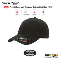 FLEXFIT Fitted College Hat Washed Cotton Dad Cap Blank Low Profile Flex Fit 6997