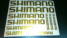 10 x Shimano Bike Vinyl Decal Stickers Frame Cycle Bicycle