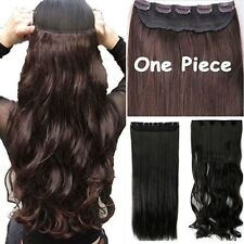 USAReal Long 100% Natural Extensions Clip in HAIR EXTENTIONS 3/4 Full Head LK99