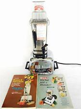 Vintage Vita-Mix 3600 Super Blender Mixer Juicer Food Processor & Cookbook Inst.