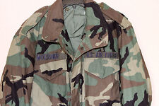 M65 USGI ARMY Air Force BDU WOODLAND COLD WEATHER FIELD JACKET Med Long