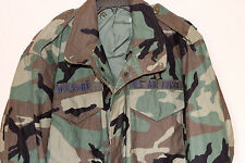 M65 USGI ARMY BDU WOODLAND COLD WEATHER FIELD JACKET Med Long